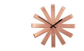 Umbra ribbon wall clock in copper