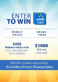 Uncle Bens Promo Sweepstakes