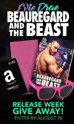 Up for grabs (1 winner each) - A personalized signed copy of Beauregard and the Beast, a $100 Amazon Gift Card, and an assortment of author swag; A personalized signed copy of Beauregard and the Beast and an assortment of author swag