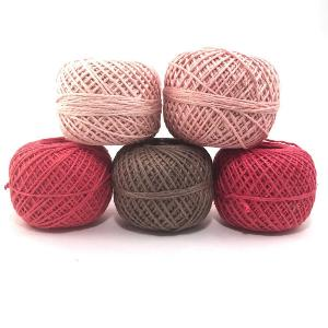 Vintage Rose Naturally Herbal Dyed Recycled Silk Yarn Pack Giveaway