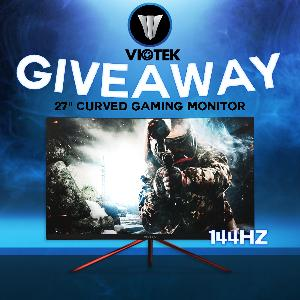 "Viotek 27"" 144Hz Curved Gaming Monitor"