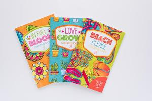 Warm Weather Adult Coloring Book Medley Giveaway