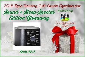 Welcome to the 2016 Epic Holiday Gift Guide Spectacular Sound + Sleep Special Edition Giveaway!