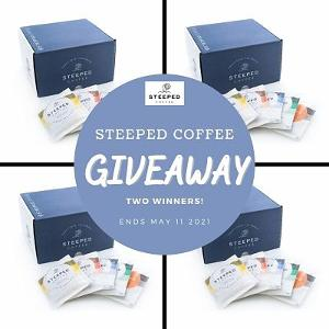 Welcome to the Steeped Coffee Giveaway. Two lucky winners will receive this prize of five different roasts in 30 packs. Enter below for your chance to win!