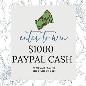 WIN $1,000 PAYPAL CASH!