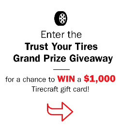 WIN: $1,000 Tirecraft gift certificate