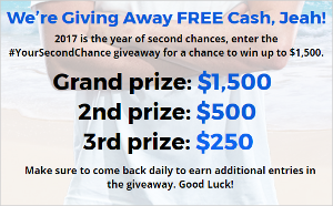 Win $1,500, $500 or $250 Cash