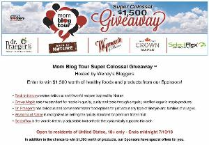 WIN $1,500 worth of Healthy foods and goodies!