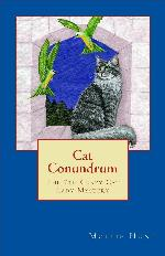 WIN (1) A signed and personalized copy of Cat Conundrum , A cute cat-print scarf  & A cat themed coffee cup filled with chocolates!