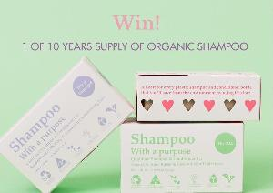 win 1 of 10 years supply of organic shampoo and conditioner