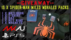 Win 1 of 15 Spider-Man: Miles Morales Merch Packs- 15 winners!! - packs include T-Shirt, Hat, Notebook, Key ring & Magnets!