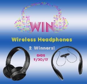 Win 1 of 2 Wireless Headphones