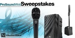 win 1 of 3 great professional audio prizes from Electro-Voice