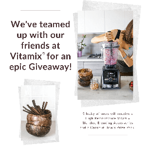 win 1 of 3 vitamix blenders, accessories, coconut bowl prize packs