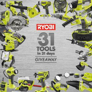 WIN 1 of 31 18V ONE+ tools from Ryobi Canada