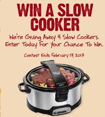 WIN: 1 of 4 Slow Cookers