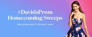 Contest: Win 1 of 5 $300 David's Bridal Gift Card for Prom Clothes