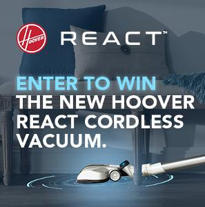 Win 1 of 5 Hoover REACT Cordless Vacuums