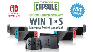 Win 1 of 5 Nintendo Switch Consoles
