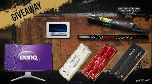 "Win 1 of 6 Prizes including BenQ 31.5"" Curved Monitor, 1 of 3 16GB Ballistix Memory Kits and More"