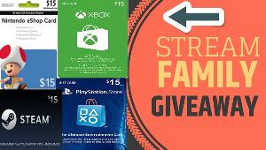 Win 1 x 15$ Xbox or PSN or Steam or Nintendo Gift Card!!