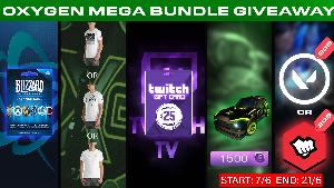Win 1 x 20$ Valorant Points / Riot Points Gift Card or 1 x 20$ Blizzard Gift Card / Hearthstone Packs or 1 x 25$ Twitch Gift Card or 1 x Oxygen Esports T-Shirt or 1 x Full Oxygen Esports Rocket League Decals Pack!