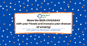 WIN $10,000 for you and $10,000 to be donated to your favorite charity
