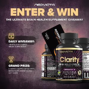 Win $100 Amazon Gift Card and 6 Months Supply of Clarity Brain Supplement