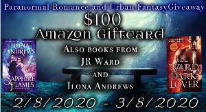 Win $100 Amazon Giftcard and Books by J.R. Ward and Ilona Andrews!