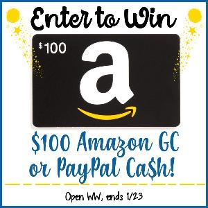 Win $100 Amazon Or Paypal Cash!!