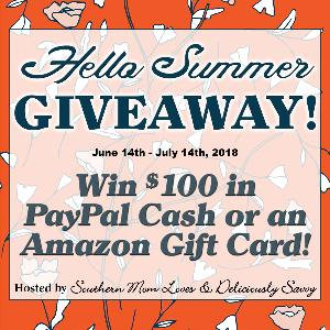 Win $100 in Paypal Cash or an Amazon Gift Card!