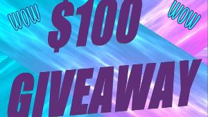 Win $100 USD via PayPal or Giftcard!!