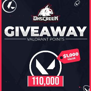 Win 110,000 Valorant Points! ( worth $1,000)