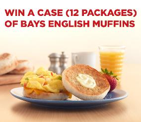 WIN: 12 free packages of BAYS English Muffins