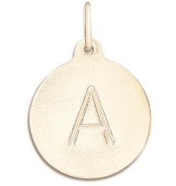 "WIN: 14 k Yellow Gold Alphabet Charm on a 14k Yellow Gold 18"" Fine Chain"