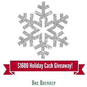 Win $1600 Holiday Cash on Box Roundup