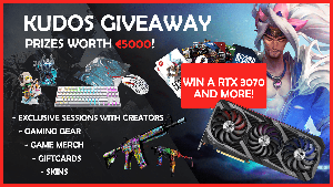 Win : 1x ASUS ROG NVIDIA RTX3070, 1x Xtrfy Special Edition Gear (Keyboard - K4 TKL White, Mouse - M4 RGB Tokyo, Mousepad - GP4 Blue Street), 2x Exclusive On-stream Coaching with HOUNGOUNGAGNE,...+ so much more!!