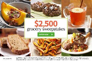 WIN: $2,500 Grocery Sweepstakes