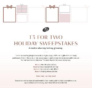 WIN: 2 T3 gift sets.