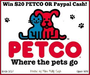 Win $20 PETCO or Paypal Cash!