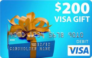 Win $200 Visa gift card