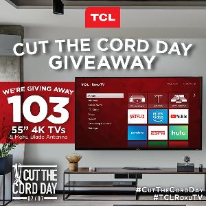 """Contest: == Win a 55"""" TCL Roku TV and a Blade HDTV Antenna"""