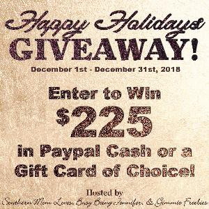 Win $225 in the Happy Holidays Giveaway!