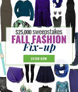 WIN: $25,000 Cash -- Fall Fashion Fix-Up""