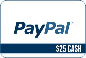 Win 25 Dollars cash straight to your PayPal!!
