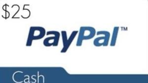Win $25 Paypal Cash!!