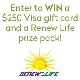 WIN $250 VISA GIFT CARD + RENEW LIFE PRODUCTS