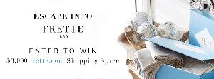 WIN: $3,000 gift card to shop at Frette.