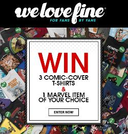 WIN: 3 Comic Cover T-Shirts + 1 Marvel item