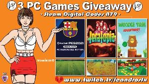 "Win 3 Games -""EFOOTBALL PES 2021 FC BARCELONA EDITION"" (Steam); ""Teratopia"" (Steam) & ""Woodle Deluxe"" (Steam)!"